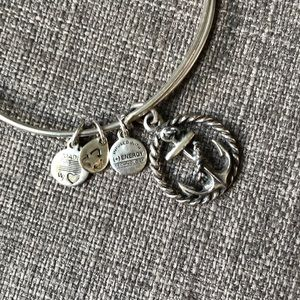 Alex and Ani Silver Anchor Bracelet